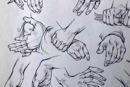 速寫手部有多難?速寫的手部技巧講解!