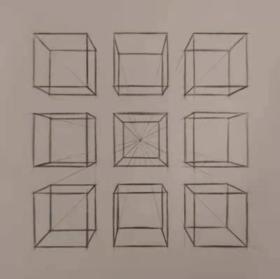 《一點透視怎么畫?一點透視練習》By 隨緣畫手