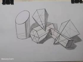 《素描幾何體怎么畫?幾何組合練習》By 隨緣畫手